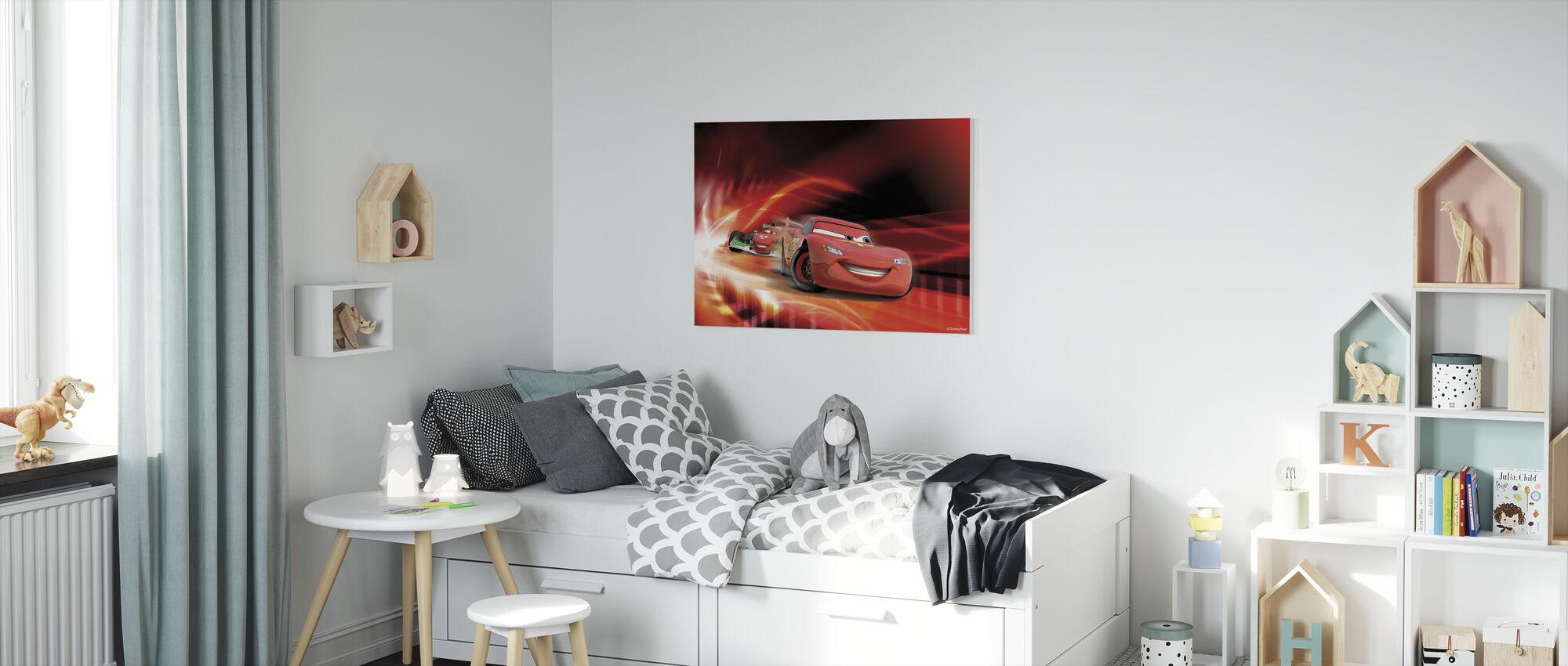 Bilar - Röd Race - Canvastavla - Barnrum