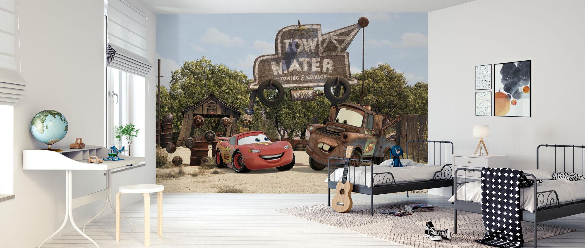 Biler - Blår Mater - Tapet - Børneværelse