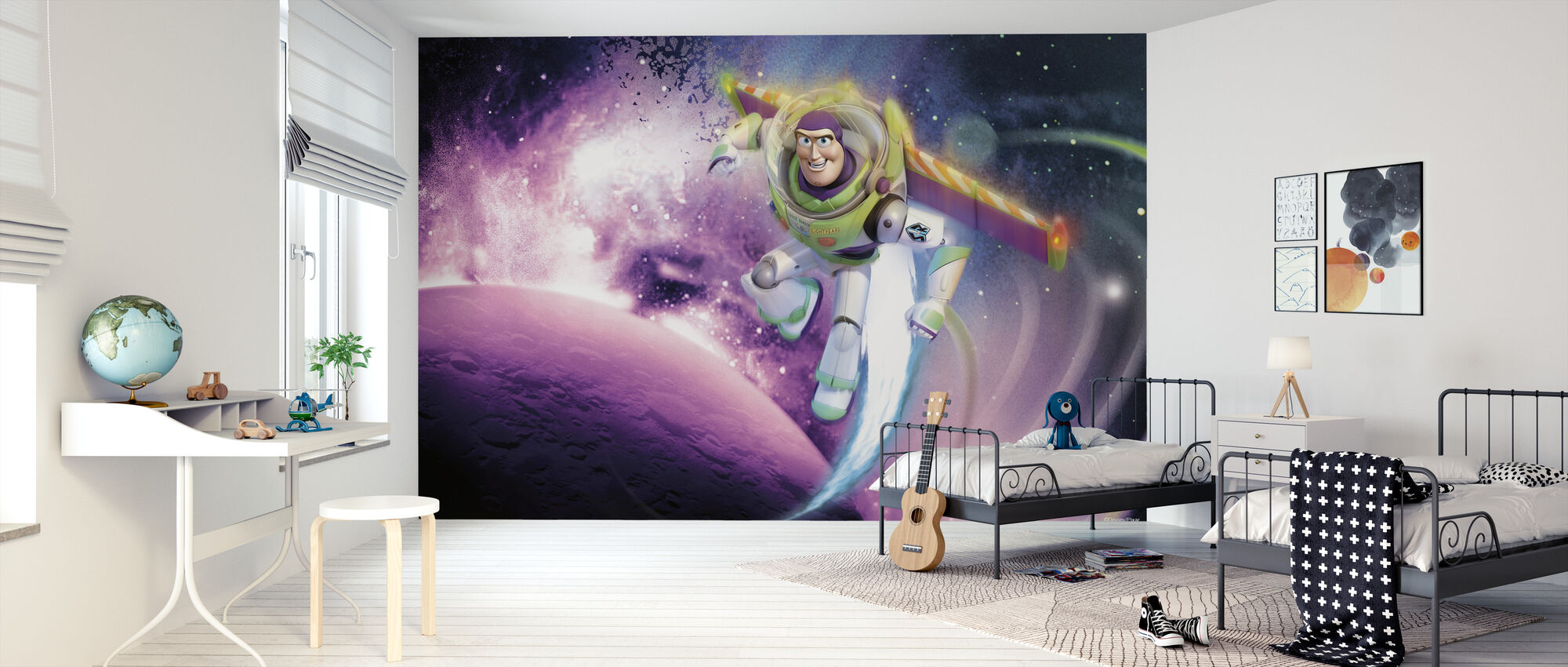 Toy Story - Space - Tapet - Barnerom