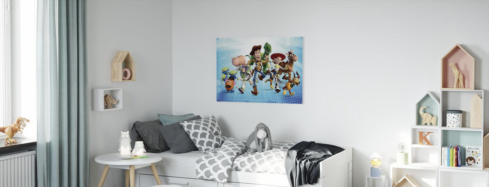 Toy Story - Gjengen - Lerretsbilde - Barnerom