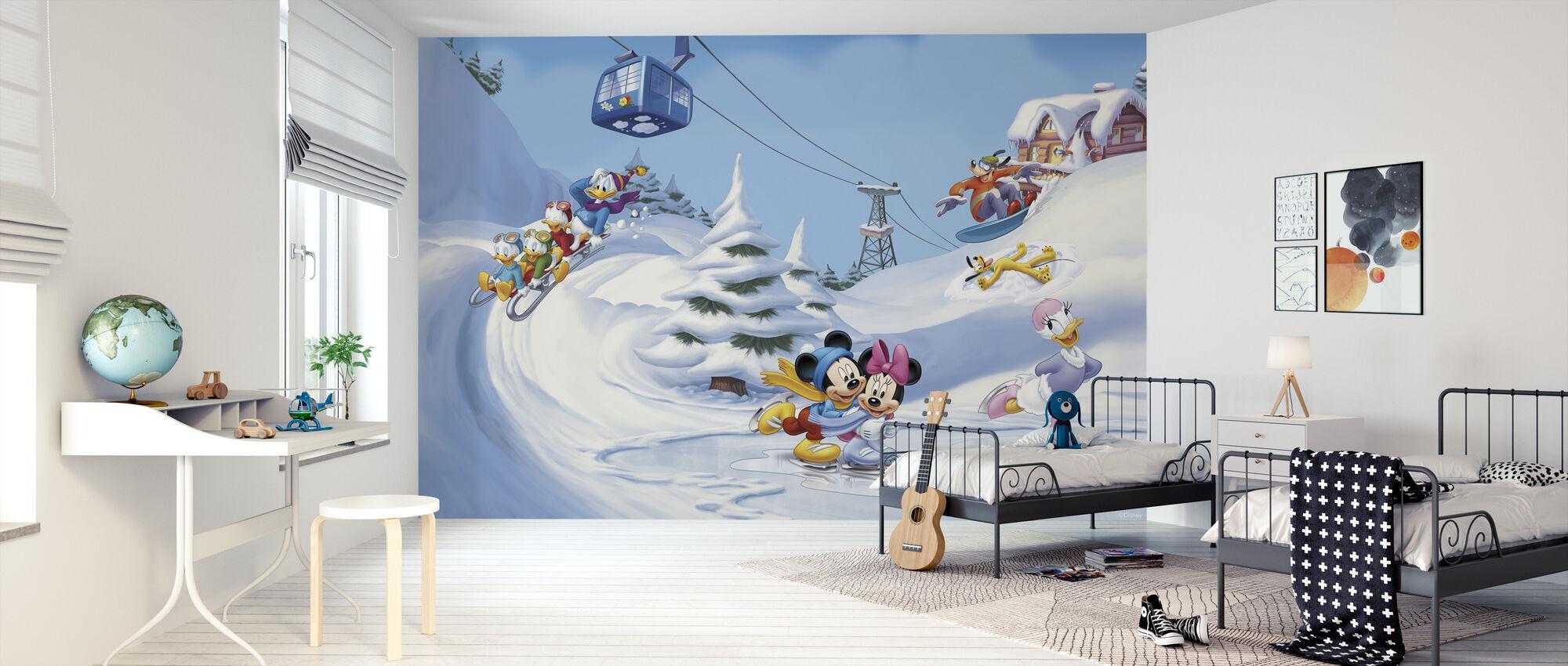 Mikki ja ystävät - Talvi Fun - Tapetti - Lastenhuone