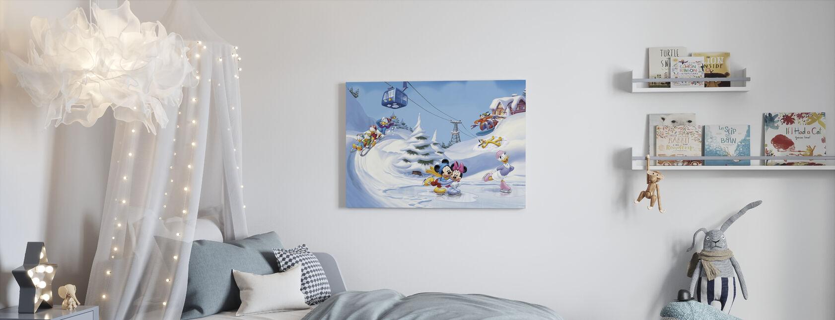 Mikki ja ystävät - Talvi Fun - Canvastaulu - Lastenhuone
