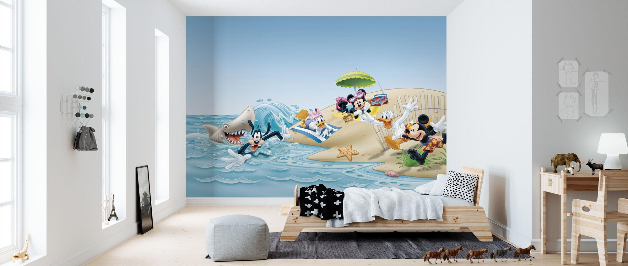 Mickey and Friends - Strand - Tapet - Børneværelse