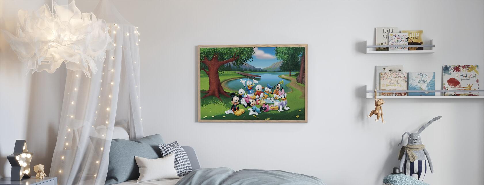 Musse och vänner - Park - Inramad tavla - Barnrum