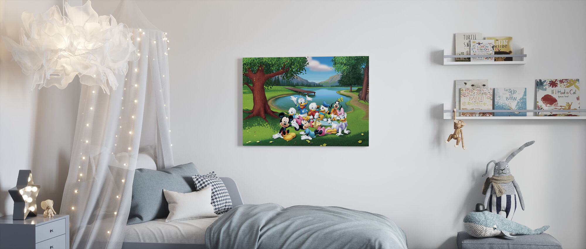 Mikki ja ystävät - Park - Canvastaulu - Lastenhuone