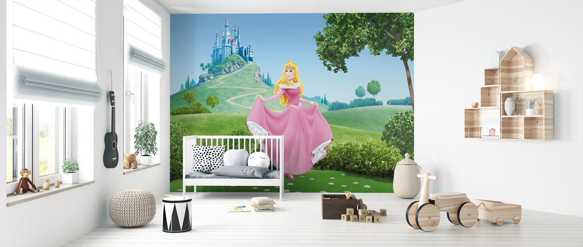 Prinsessa - Sleeping Beauty - Tapetti - Vauvan huone
