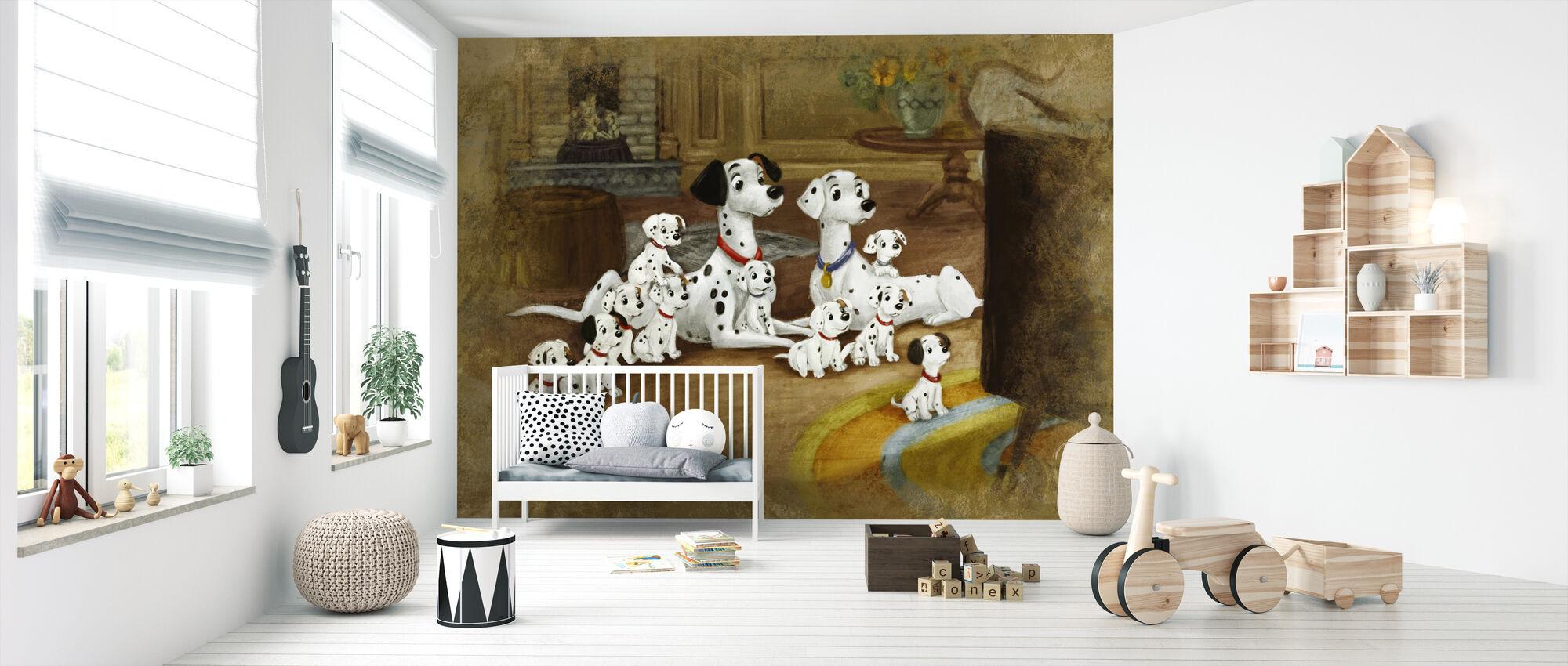 Disney Classics - 101 dalmatinere - Tapet - Babyværelse