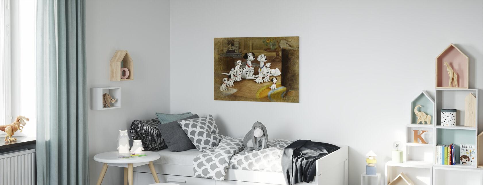 Disney Classics - 101 Dalmatians - Canvastaulu - Lastenhuone