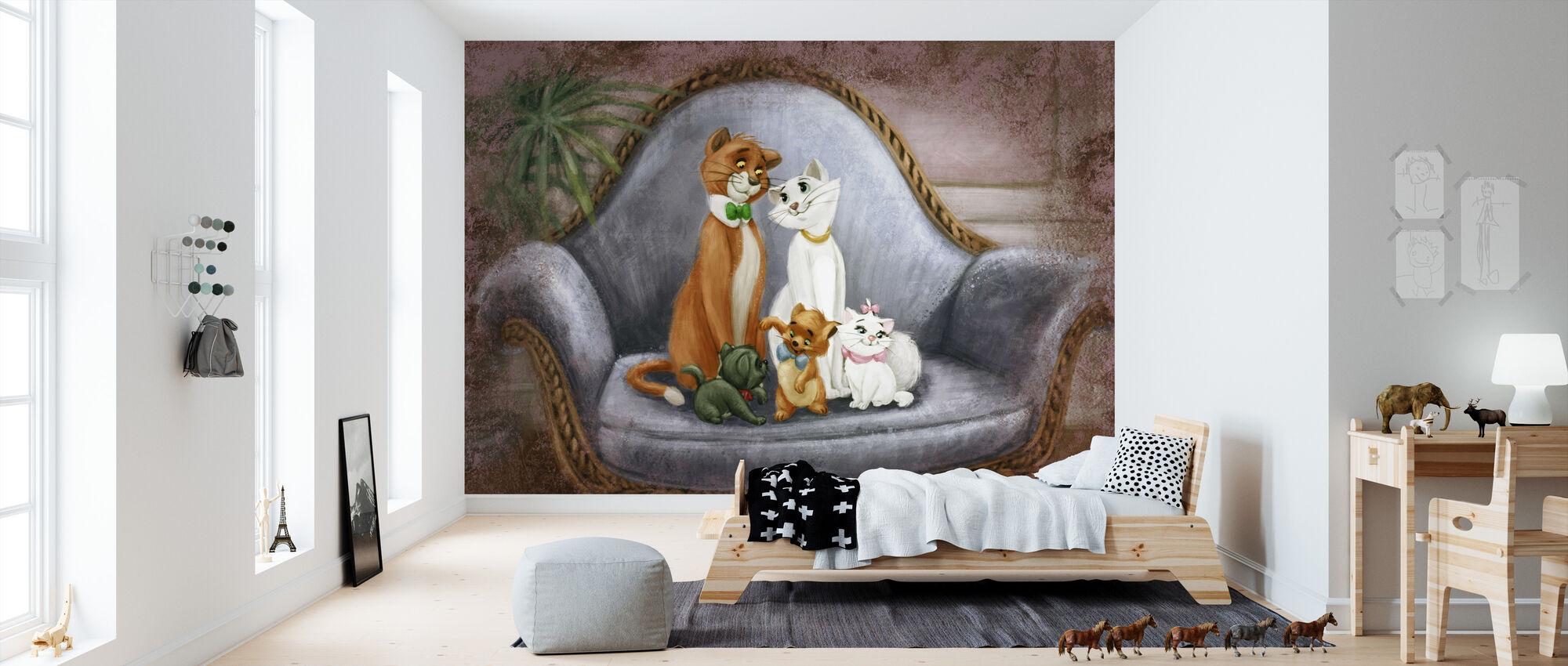Disney-klassiker - Aristocats - Tapet - Barnrum