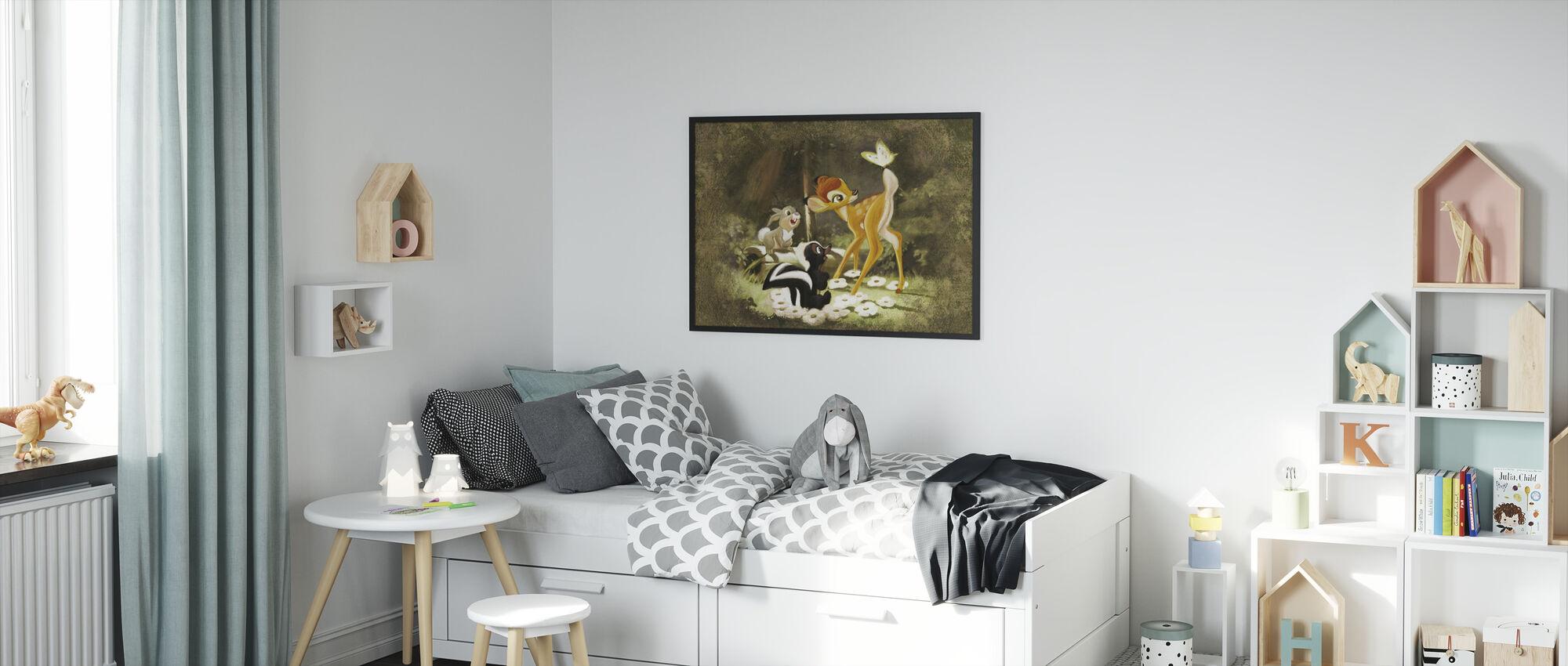 Disney klassikere - Bambi - Indrammet billede - Børneværelse