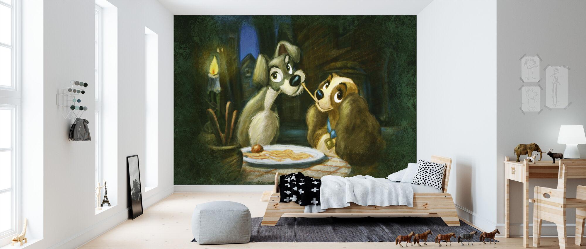 Disney Classics - Dame og Landstrykeren - Tapet - Barnerom