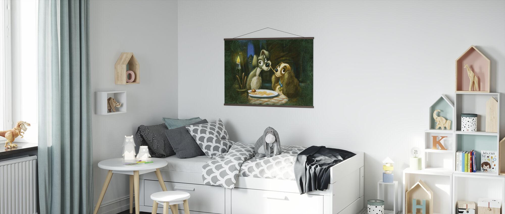 Disney Classics - Dame og Landstrykeren - Plakat - Barnerom