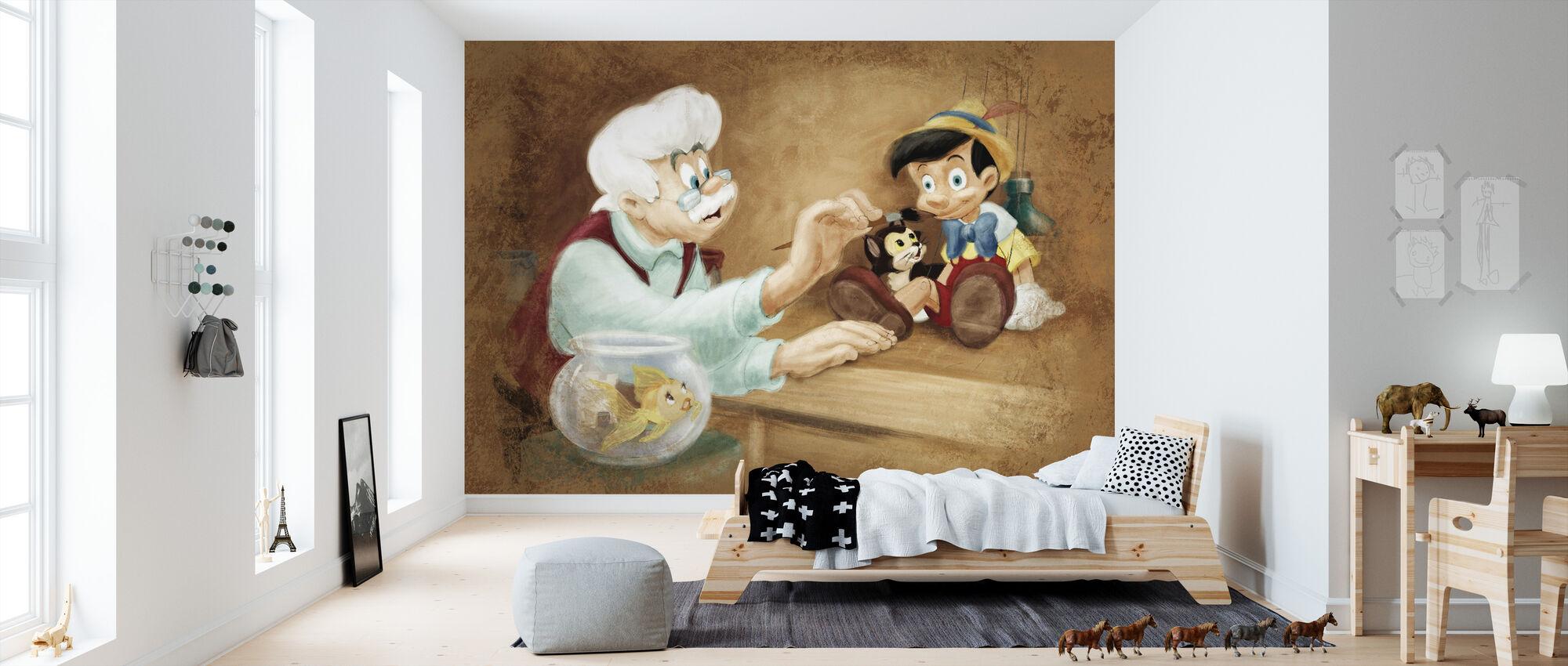 Disney-klassiker - Pinocchio - Tapet - Barnrum