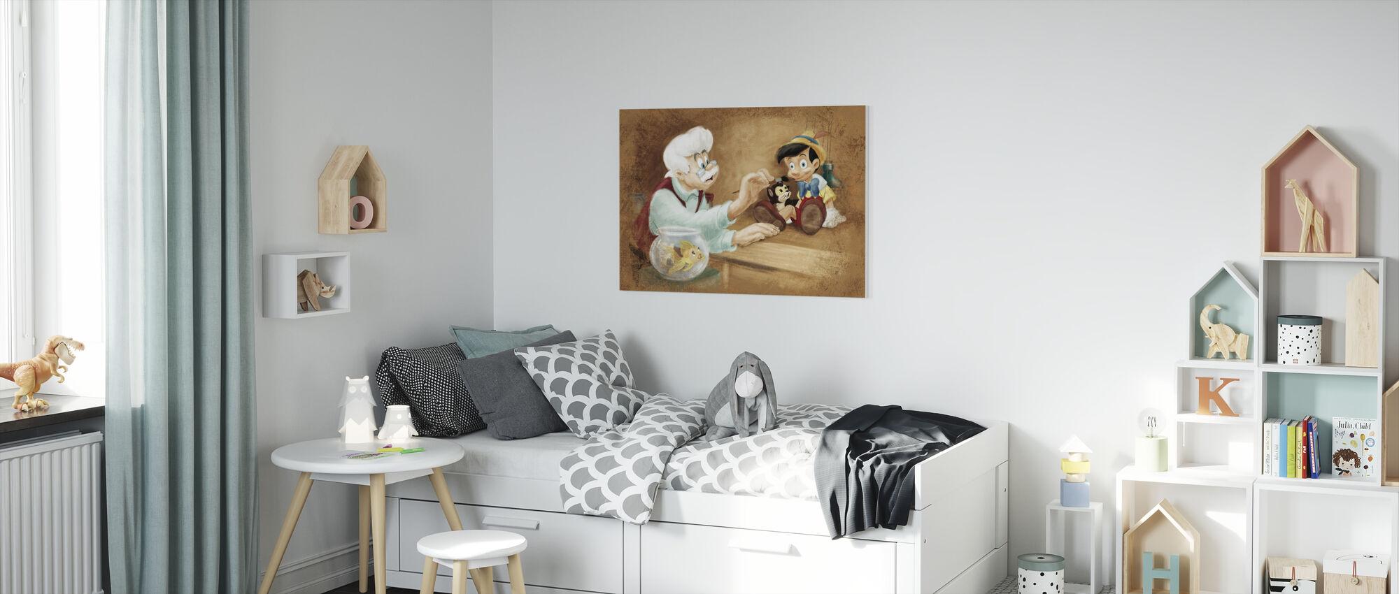 Disney-klassiker - Pinocchio - Canvastavla - Barnrum