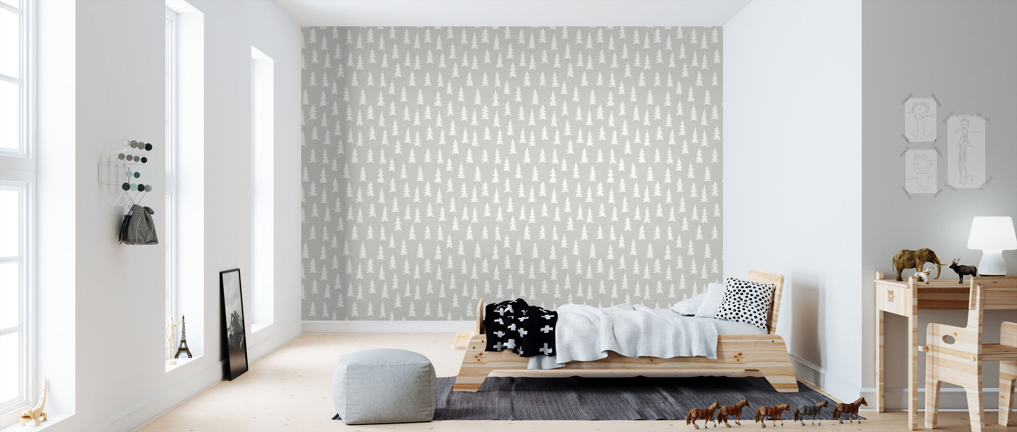 Gran - Light Grey - Wallpaper - Kids Room