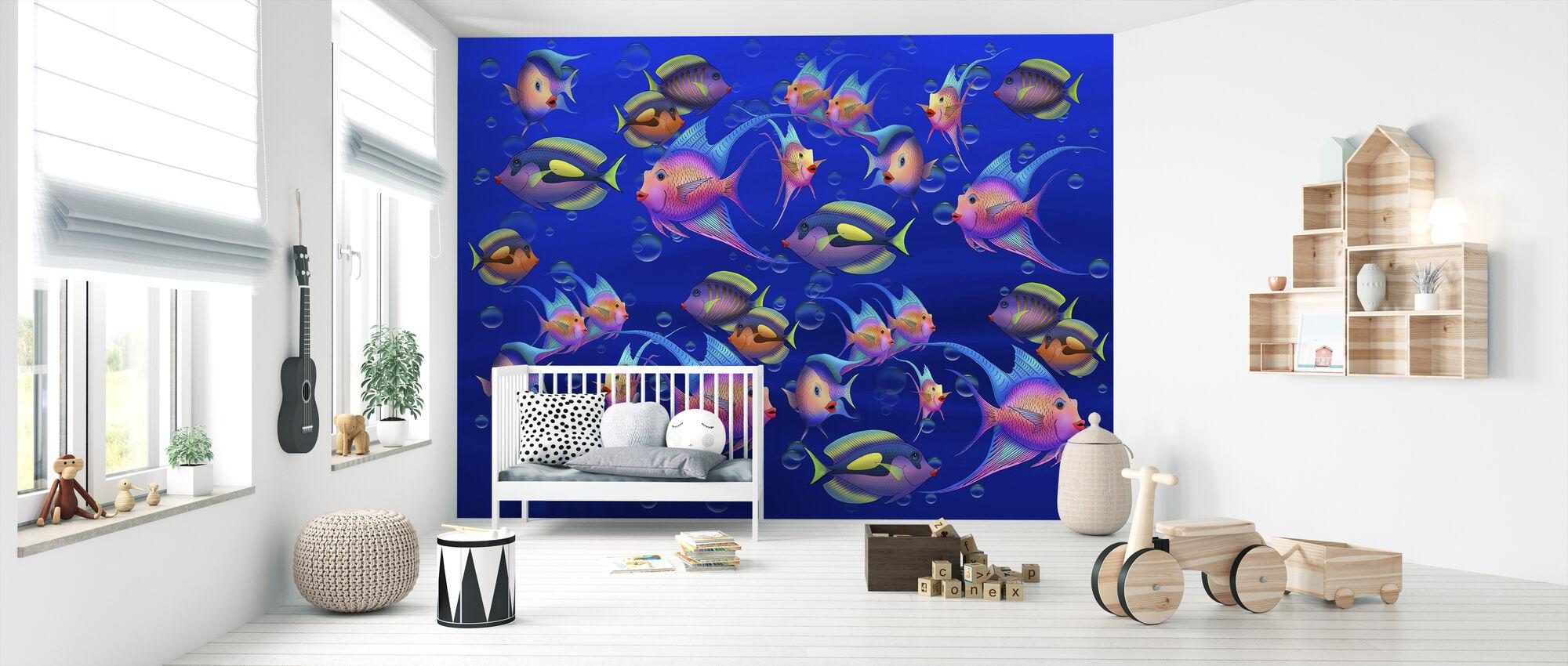 Fantasy Fisk - Tapet - Babyrum
