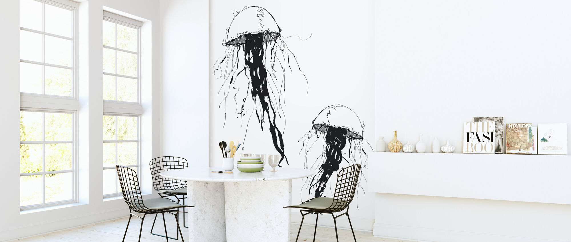 Jellywho - White - Wallpaper - Kitchen