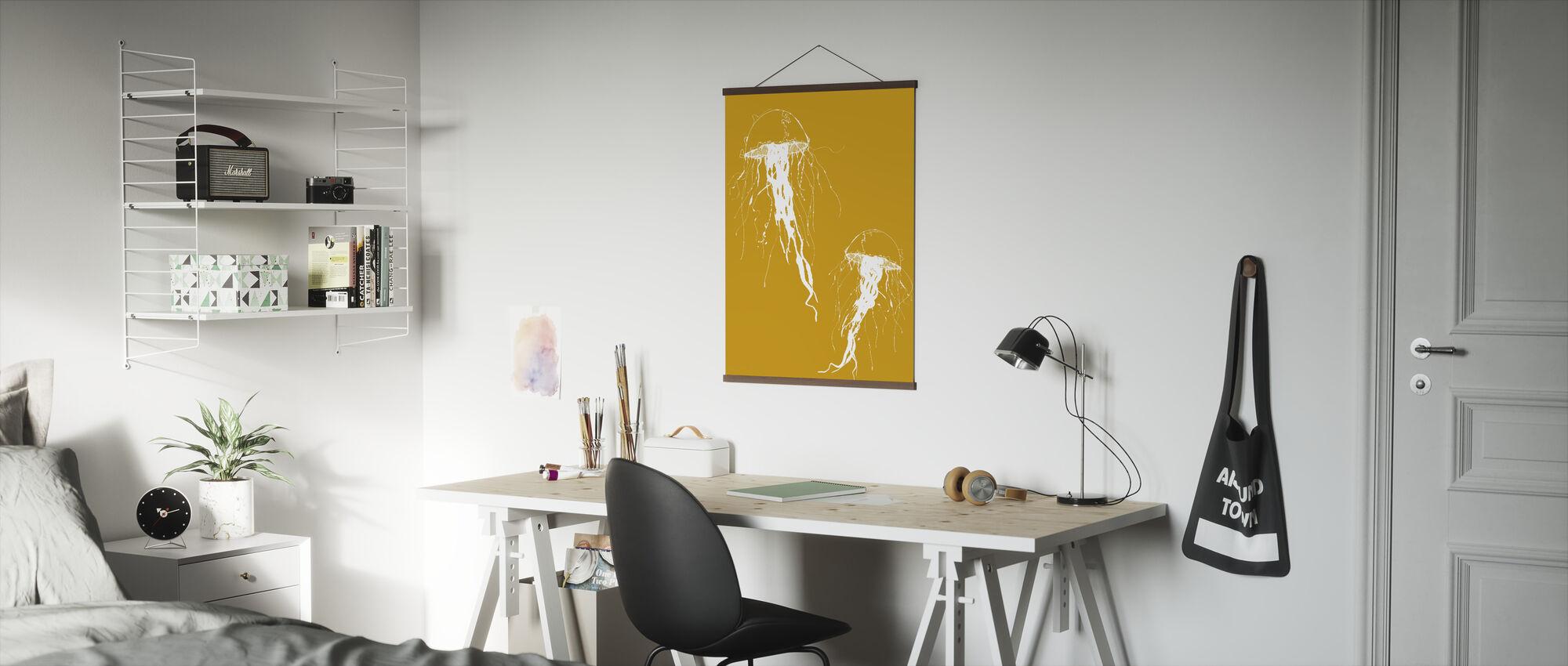Jellywho - Oranje - Poster - Kantoor