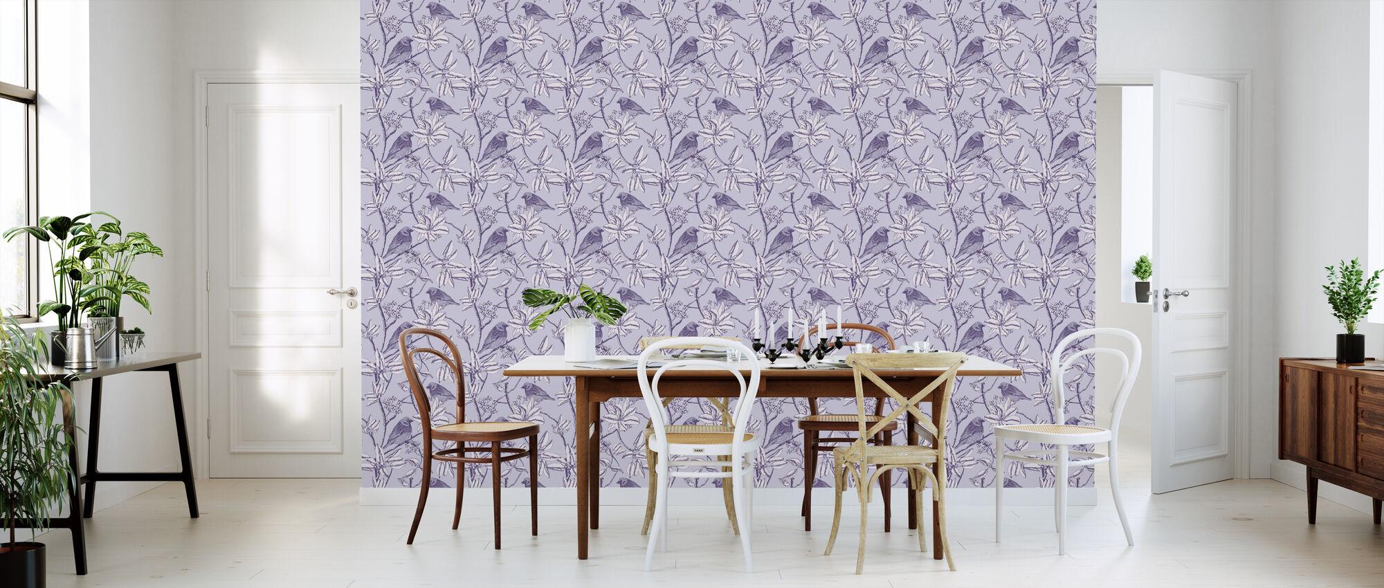 Finch - Purple - Wallpaper - Kitchen