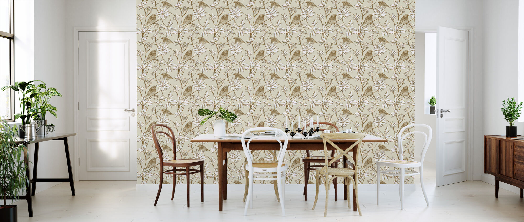 Finch - Beige - Wallpaper - Kitchen