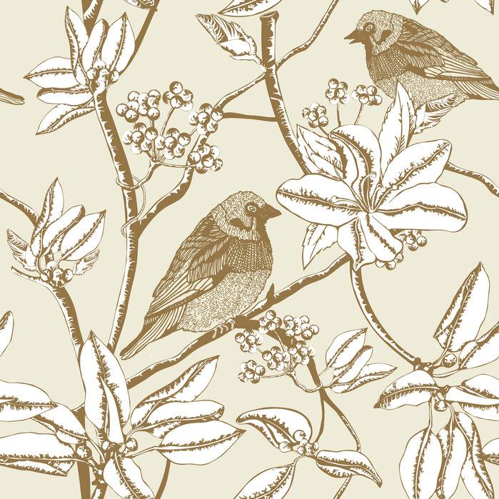 Finch beige papel pintado personalizado y de alta for Papel pintado personalizado