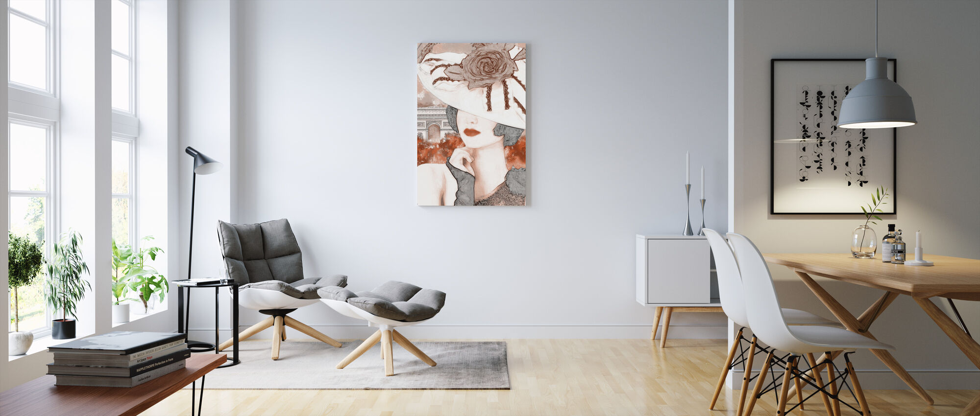 A Pensive Woman - Canvas print - Living Room