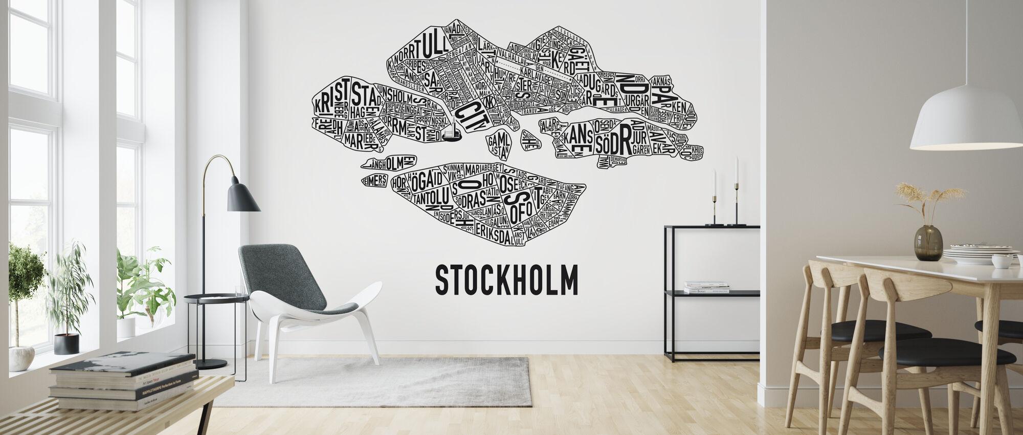 Stockholm - Wallpaper - Living Room