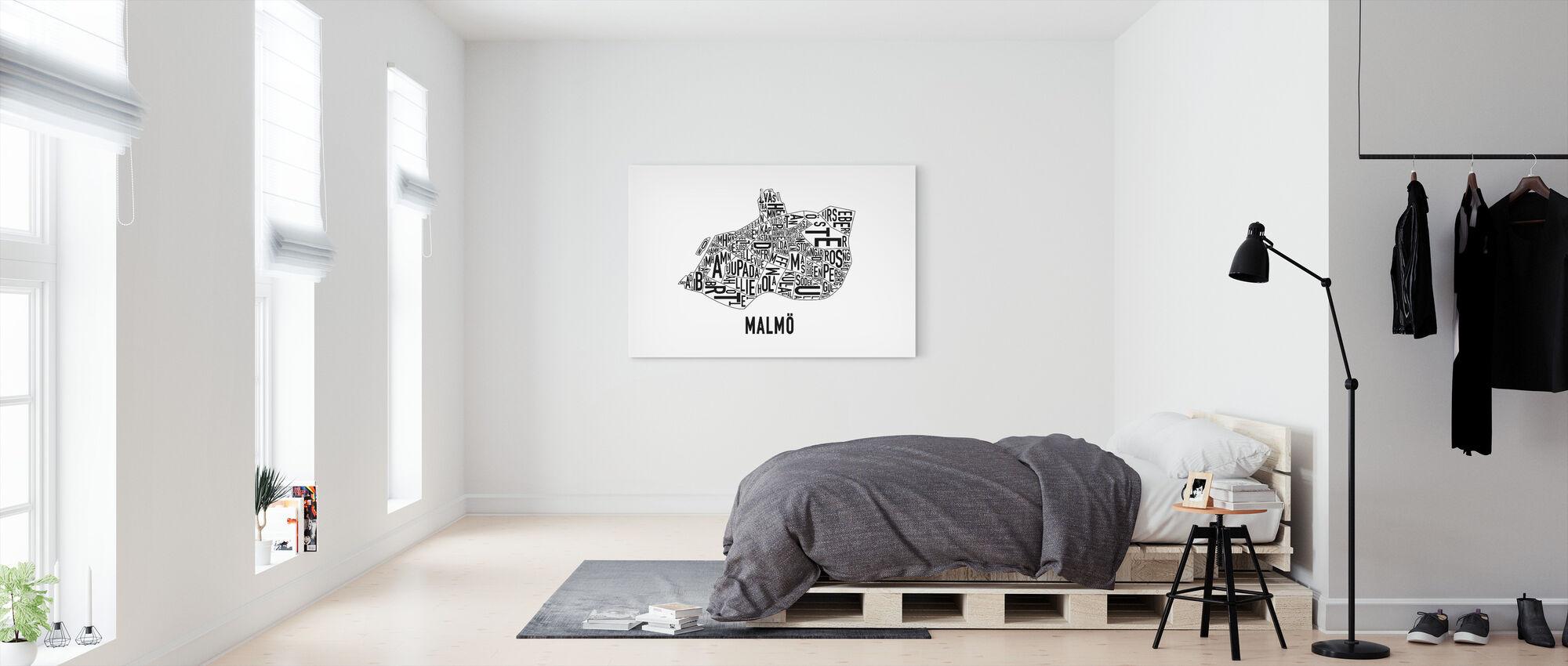 Malmö - Billede på lærred - Soveværelse
