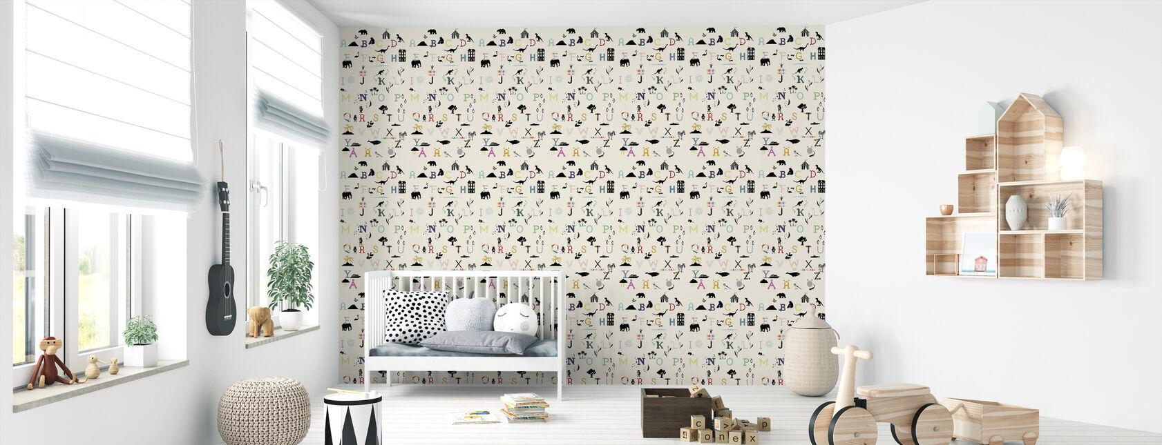 ABC mur - Papier peint - Chambre de bébé