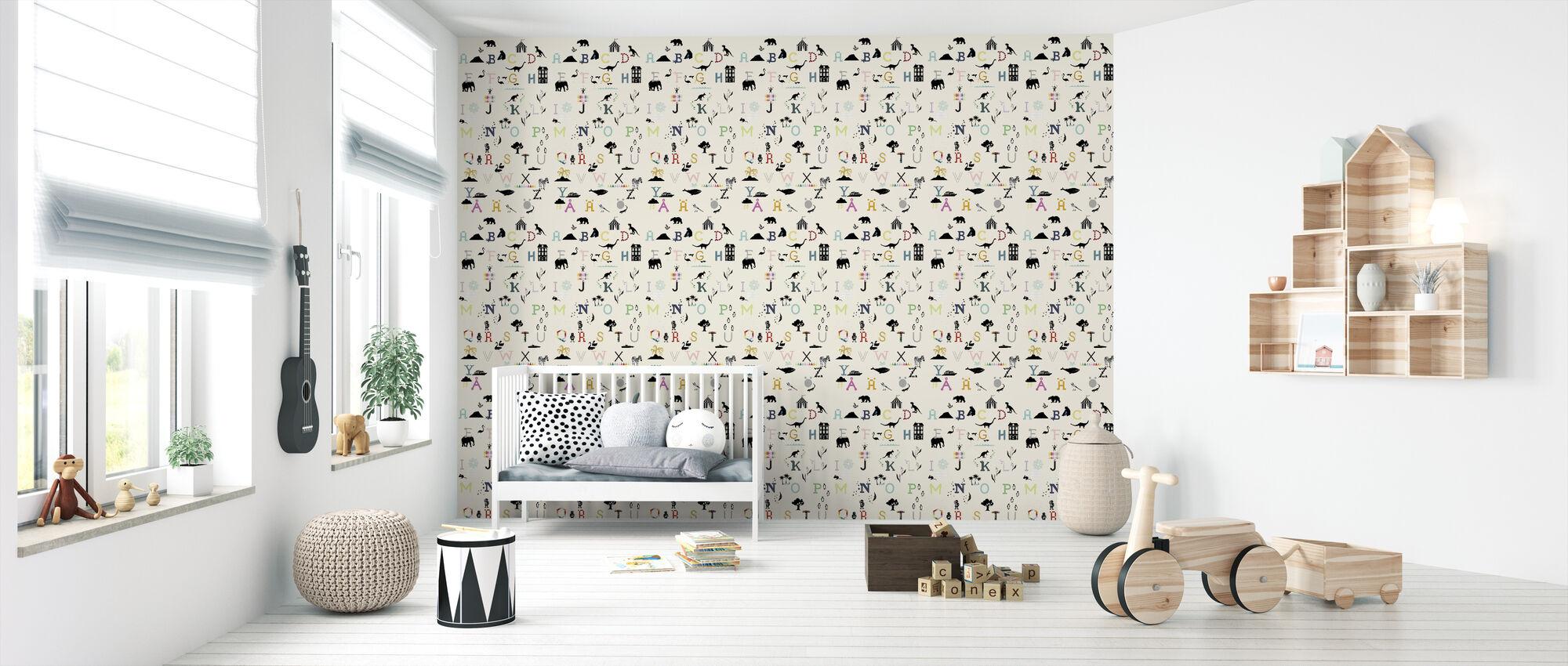 ABC wall - Wallpaper - Nursery