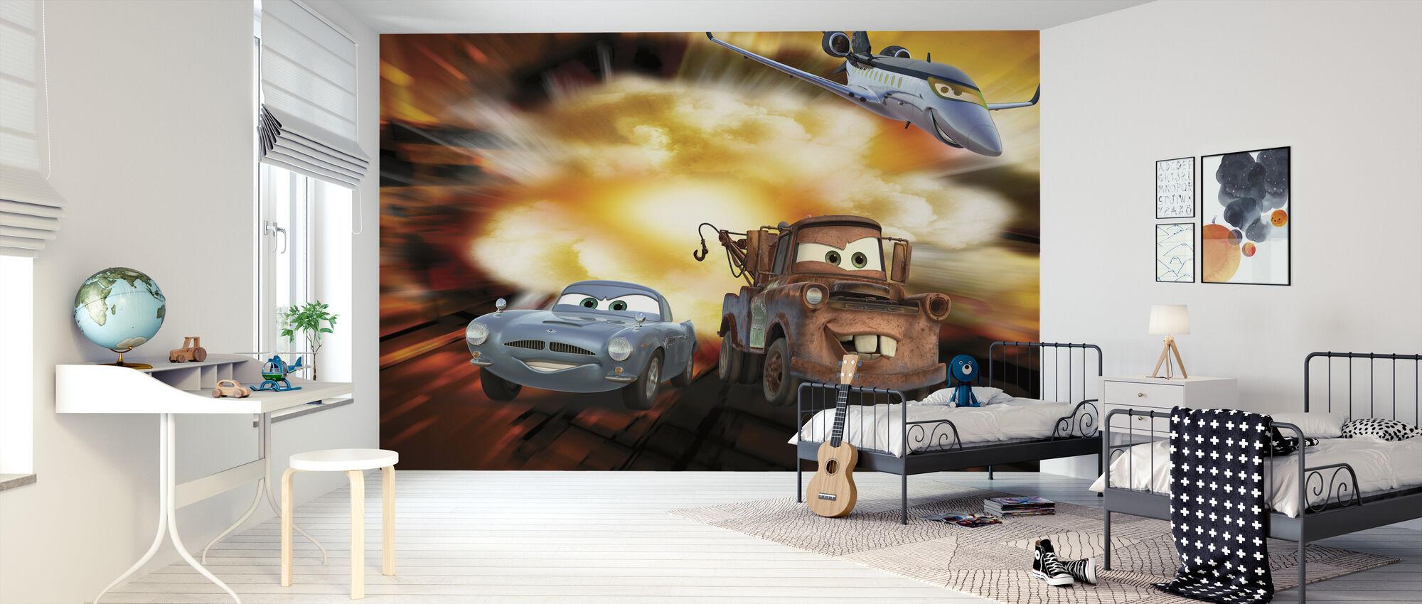 Biler - McQueen, Siddeley og Mater bombe - Tapet - Barnerom