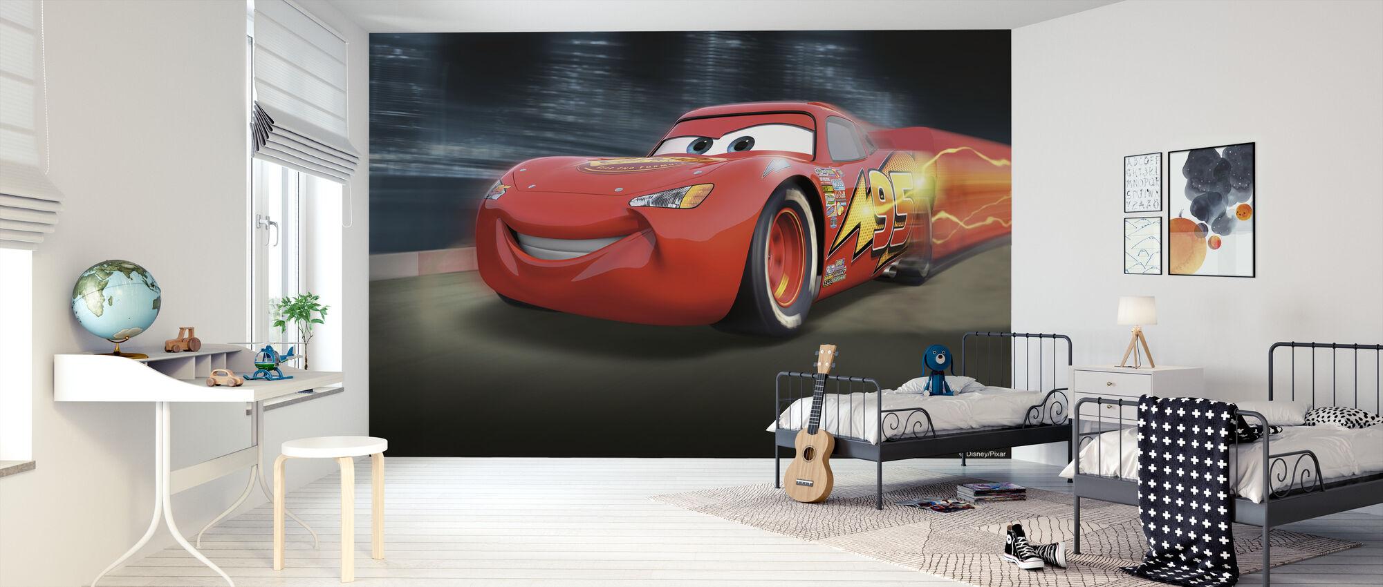 Biler - Racerbane McQueen - Tapet - Børneværelse
