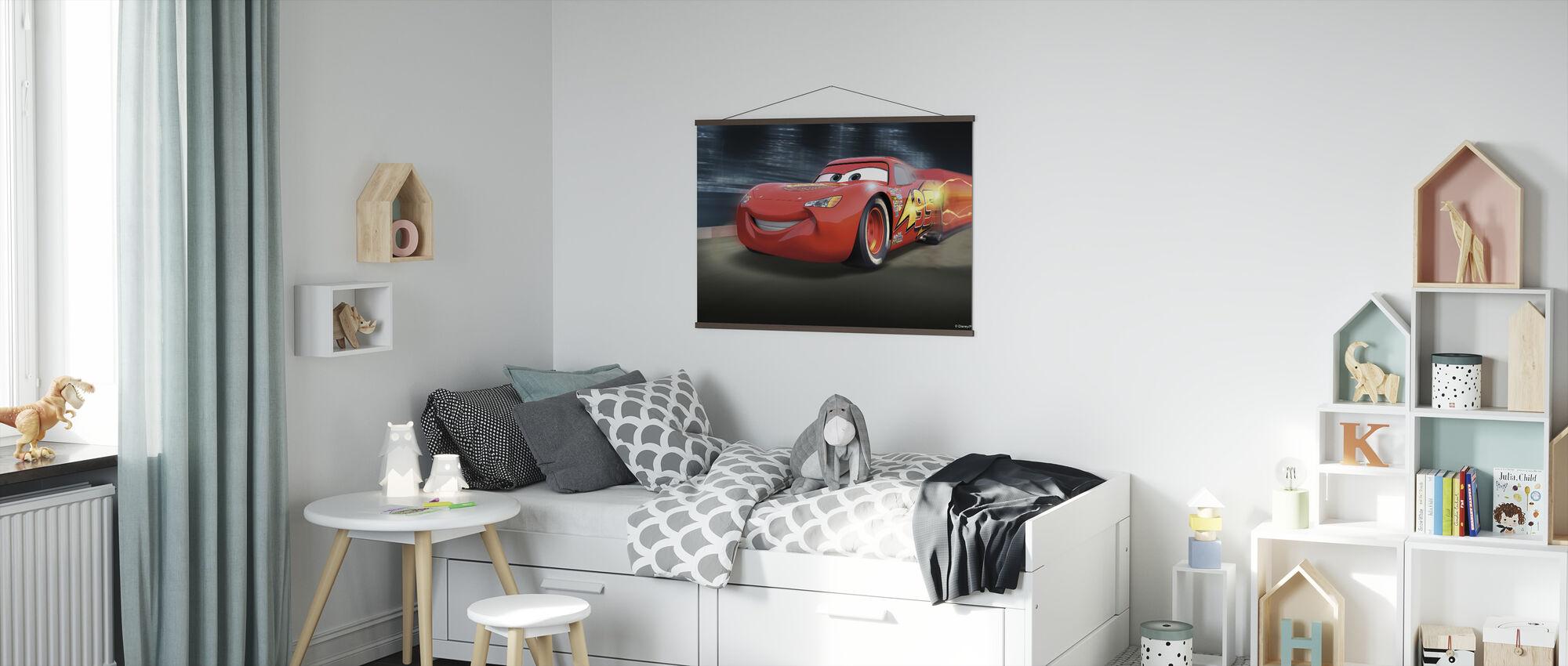 Autot - Racetrack McQueen - Juliste - Lastenhuone