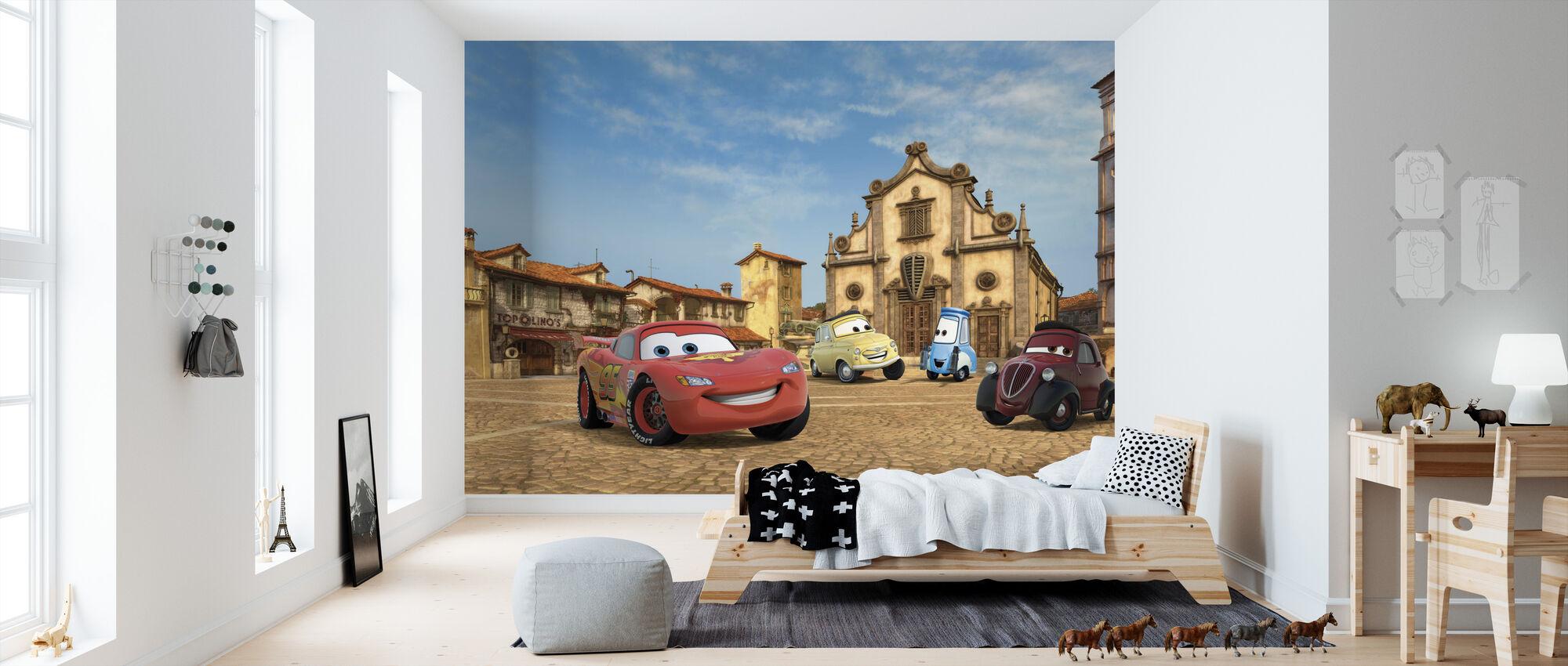 Autot Topolinos Square - Tapetti - Lastenhuone