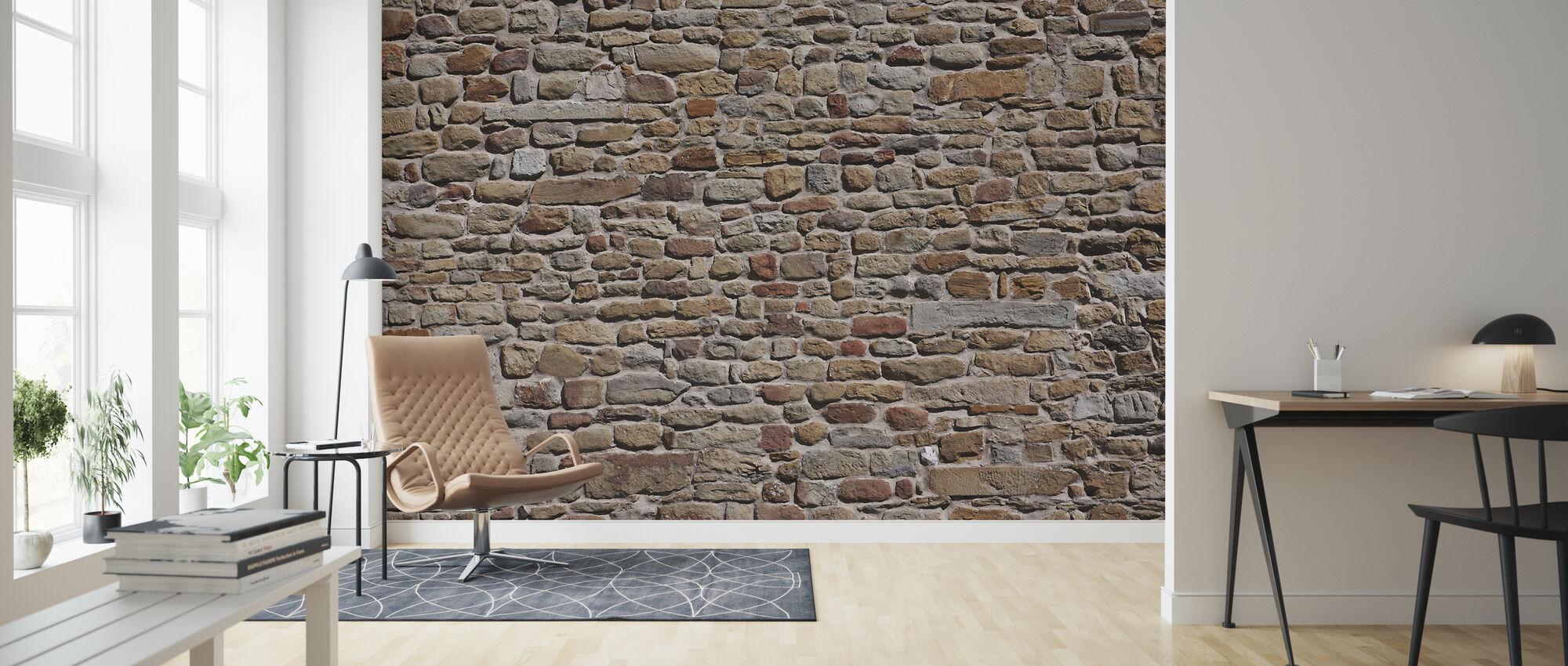 Oude bakstenen muur - Behang - Woonkamer