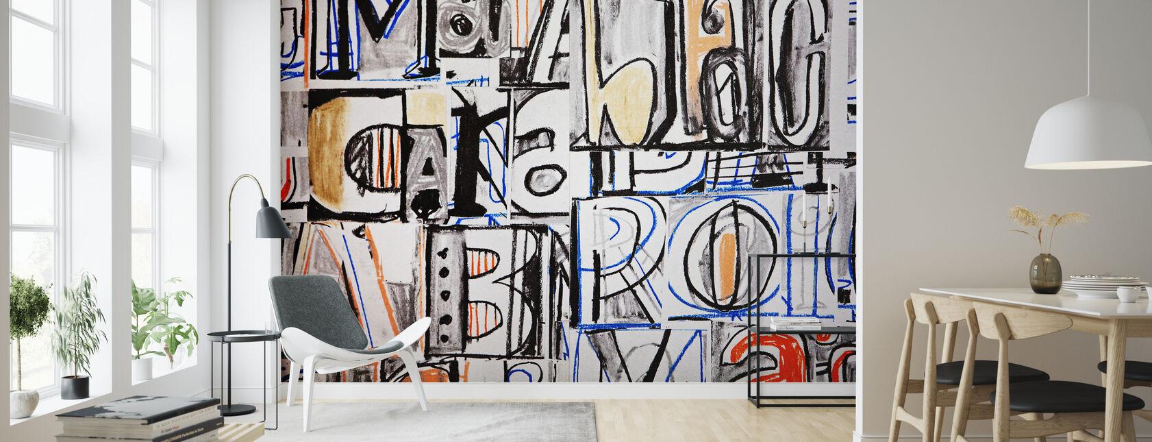 Funky Letter Graffiti - Wallpaper - Living Room