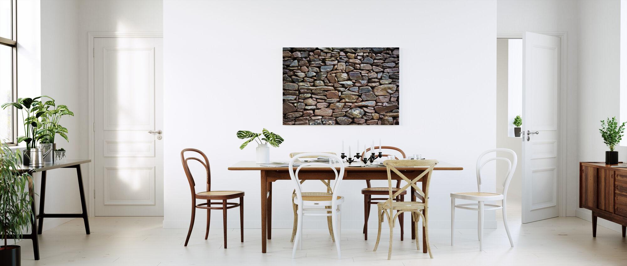 Rustic Stonewall - Canvas print - Kitchen