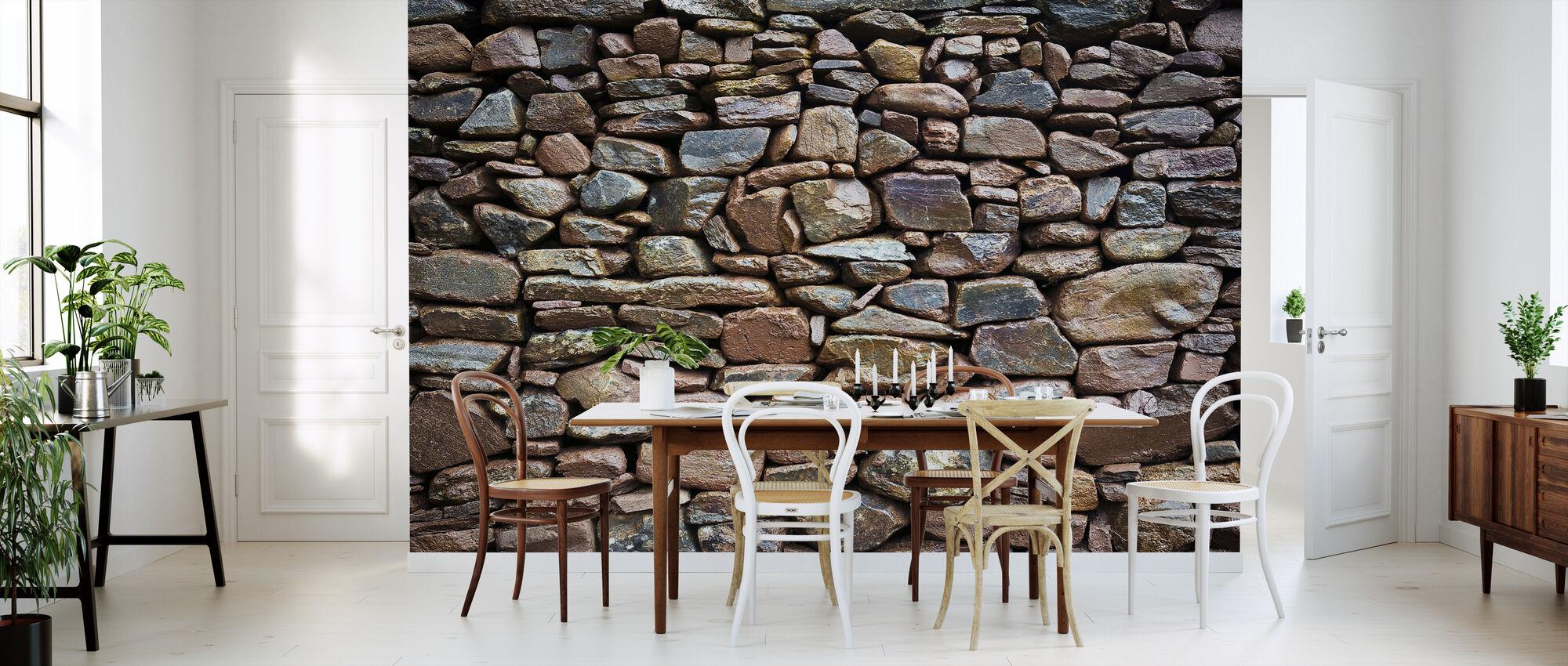 Rustic Stonewall - Wallpaper - Kitchen