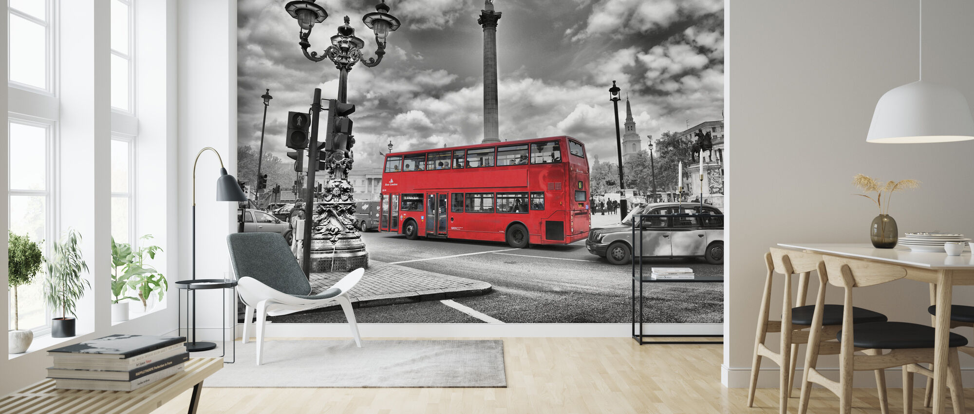 London Bus - Colorsplash - Tapete - Wohnzimmer