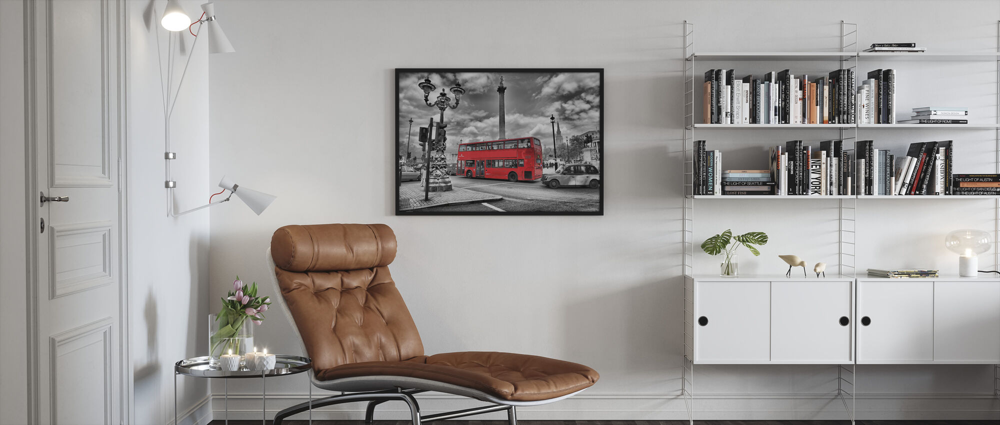 London Bus - Colorsplash - Framed print - Living Room