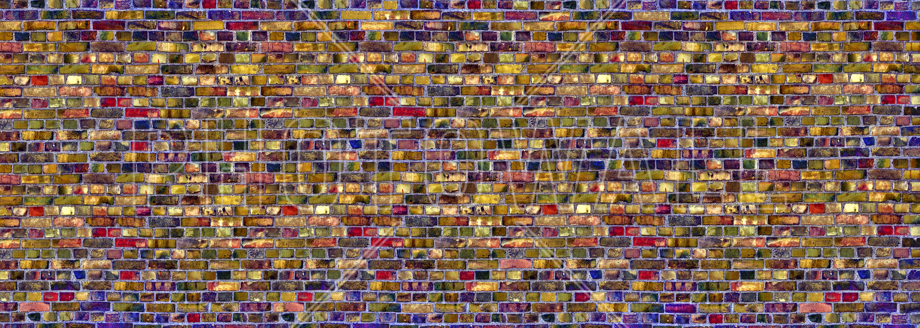 Colorful Brick Wall Fototapeter & Tapeter 100 x 100 cm