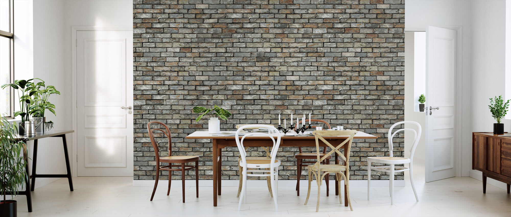 Stone Wall - Wallpaper - Kitchen