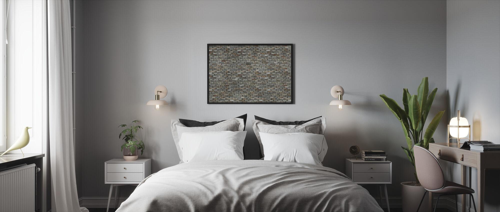 Kiviseinä - Kehystetty kuva - Makuuhuone