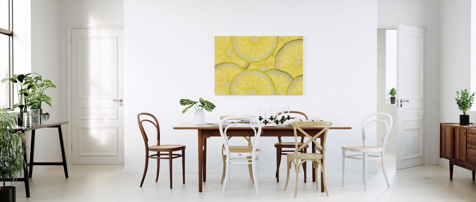 Sliced Lemons - Canvas print - Kitchen