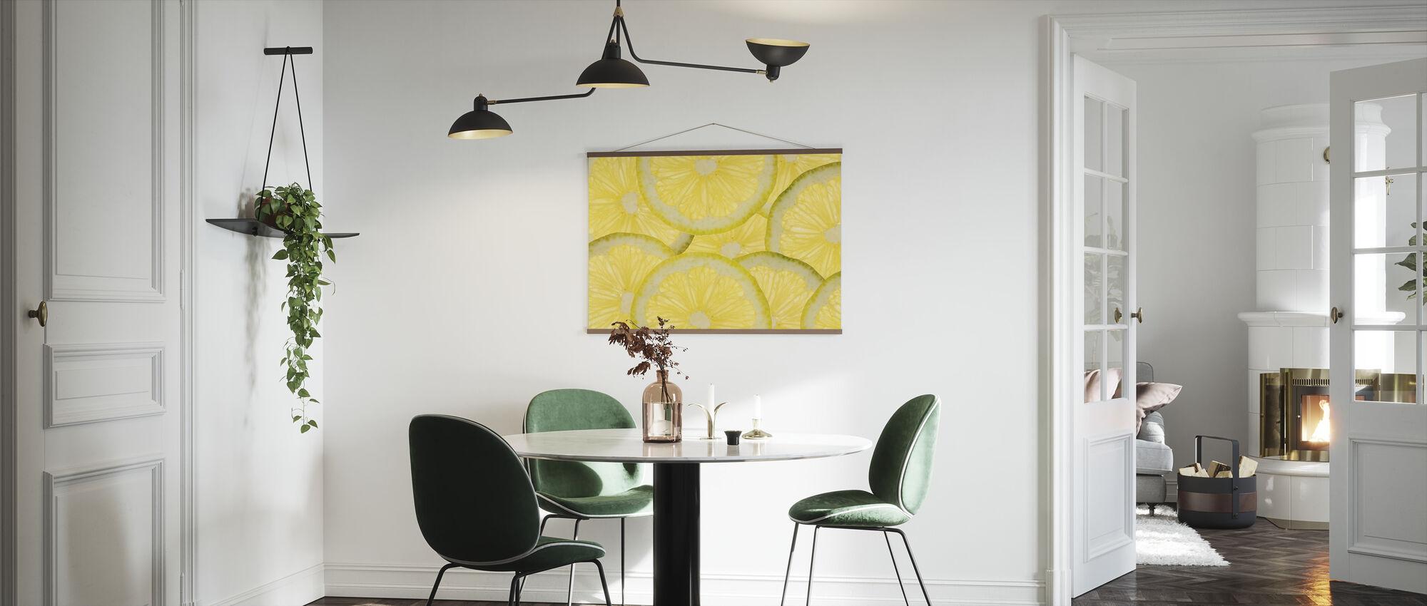 Cytryny w plasterkach - Plakat - Kuchnia