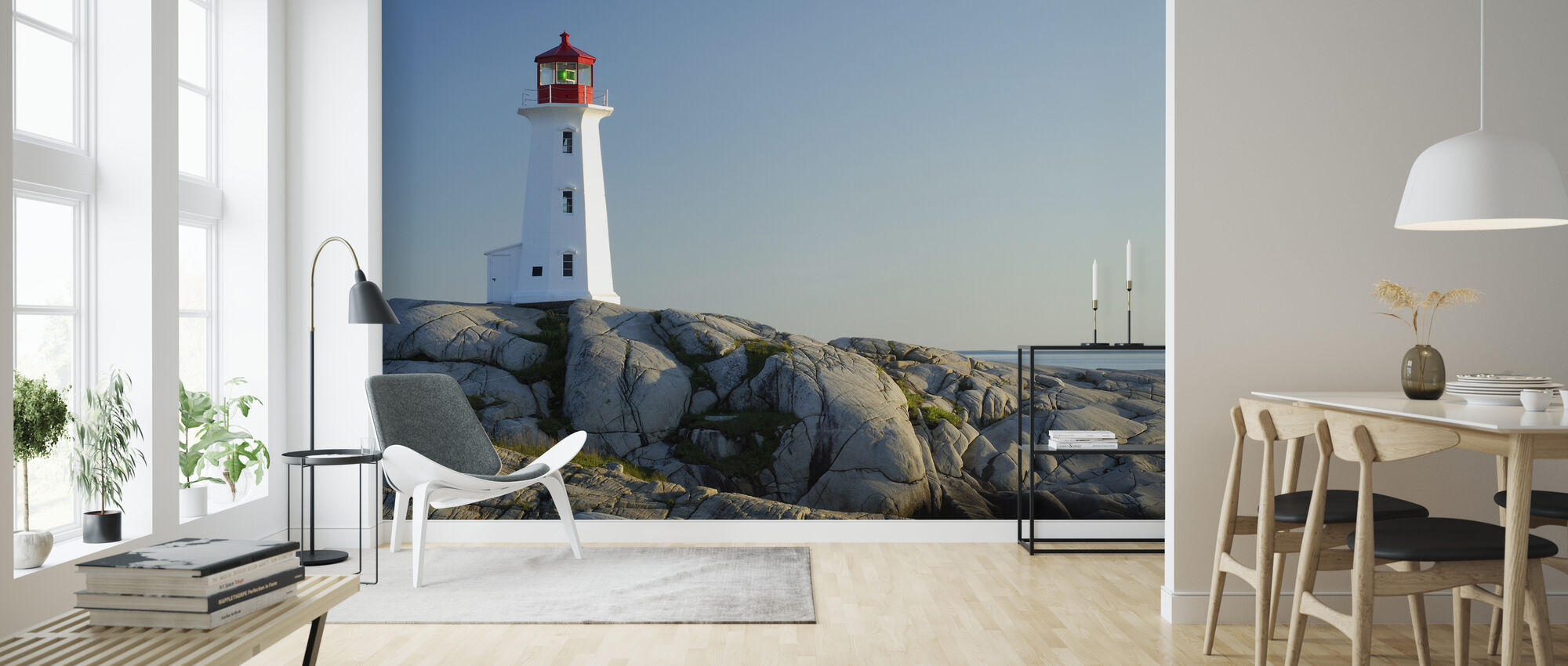 Peggys Cove Lighthouse - Wallpaper - Living Room