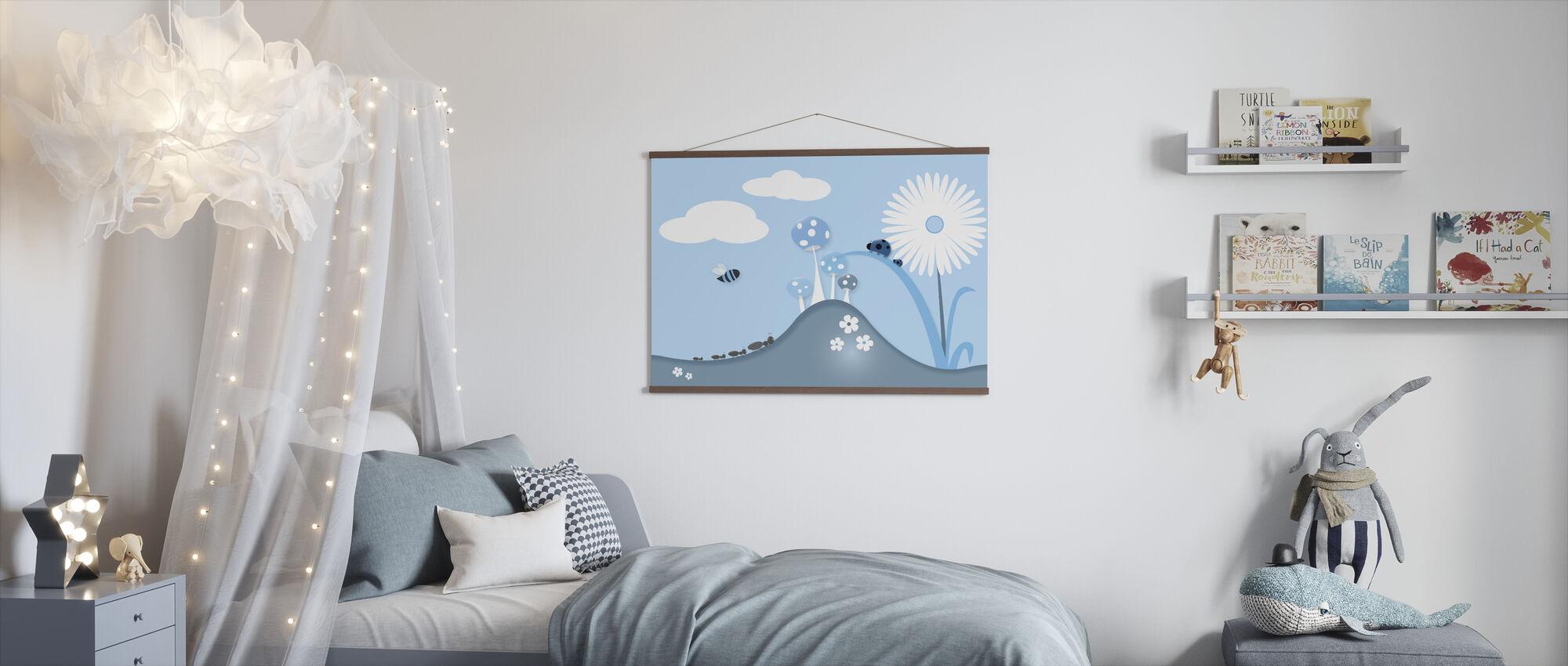 A Bugs World - Blue - Poster - Kids Room