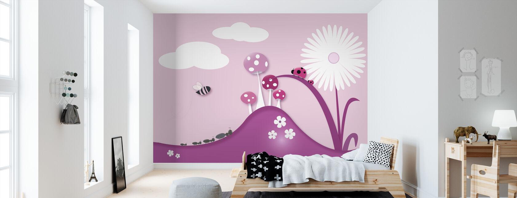 A Bugs World - Pink - Tapete - Kinderzimmer