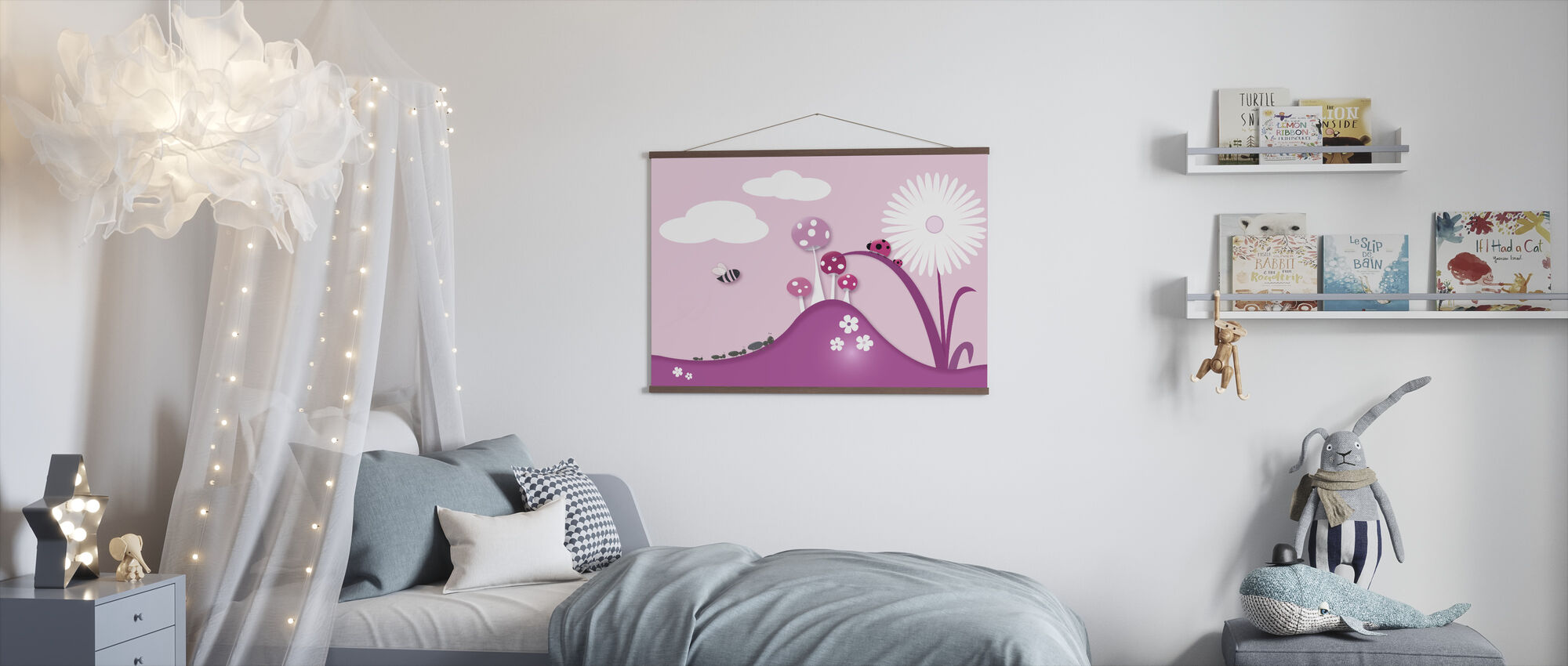 A Bugs World - Pink - Poster - Kids Room