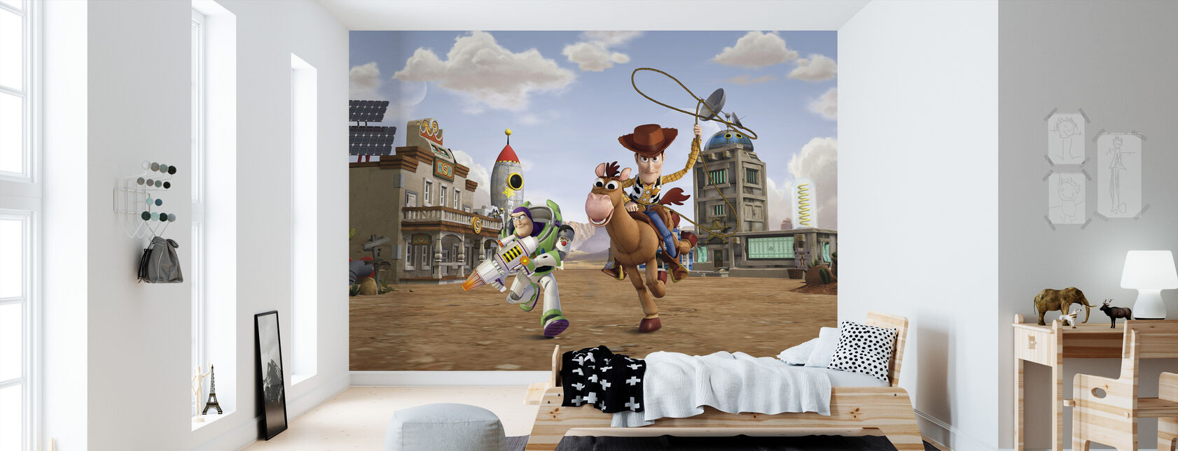 Toy Story - Napakymppi Woody Buzz Lightyear - Tapetti - Lastenhuone